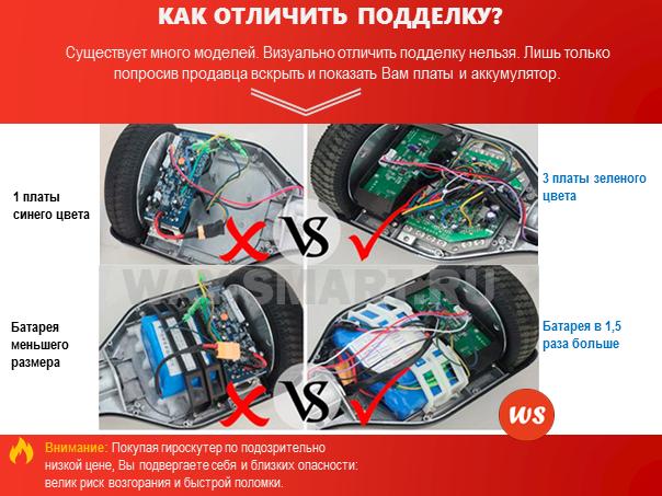 как отличить подделку гироскутера от оригинала Smart Balance