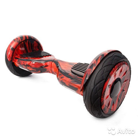 Гироскутер Smart Balance Wheel SUV 10.5 Premium с колонками + самобалансир красный огонь