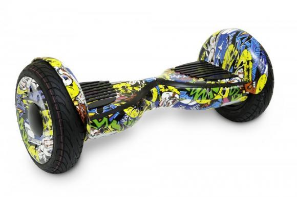 Гироскутер Smart Balance Wheel SUV 10.5 Premium с колонками + самобалансир граффити желтый