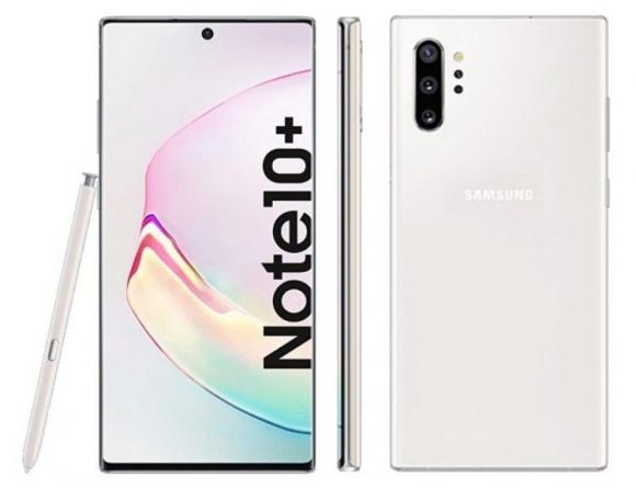 Смартфон Samsung Galaxy Note 10+ 256 ГБ белый
