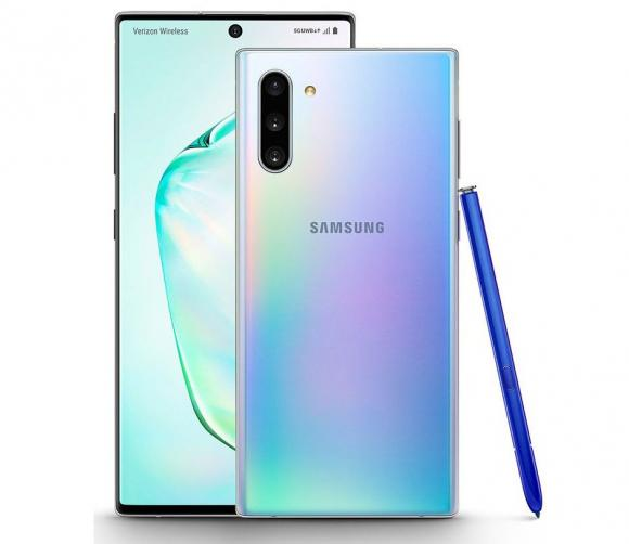 Смартфон Samsung Galaxy Note 10 256 ГБ голубой