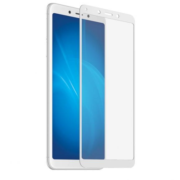 Защитное стекло 2.5D Full Cover+Full Glue для Xiaomi Redmi 6/6A белый тех.пак