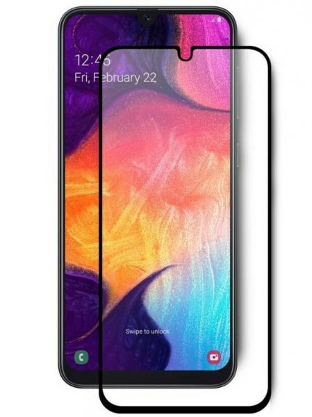 Защитное стекло тех.упак. 5D/6D Full Glue Premium Samsung A405 (A40 2019) Черный