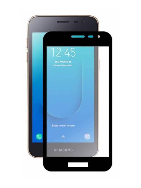 Защитное стекло 2.5D Full Cover+Full Glue для Samsung J2 CORE 2018/J260F чёрный тех.пак