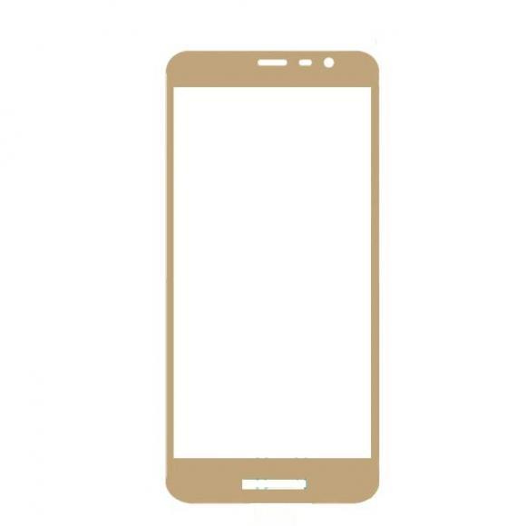 Защитное стекло 2.5D Full Cover+Full Glue для Samsung J2 CORE 2018/J260F золото тех.пак