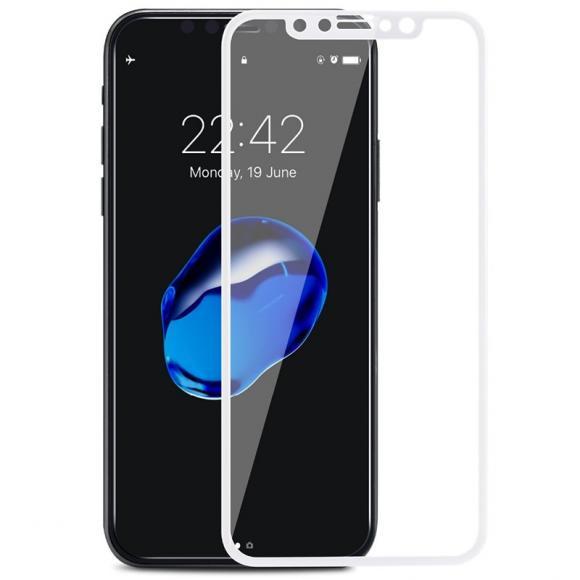 Защитное стекло для iPhone XR 10D Slim тех/пак (white)