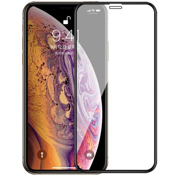 Защитное стекло 2.5D Full Cover+Full Glue для iPhone XS Max, Черная рамка тех.пак.