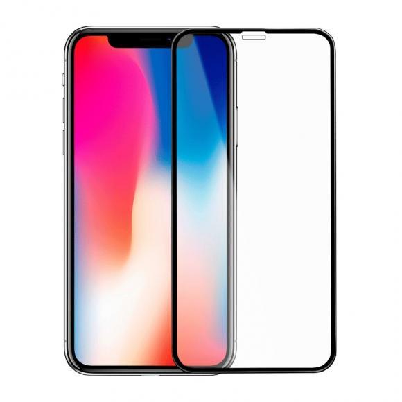 Защитное стекло 11 D для Apple iPhone X/XS Черная рамка тех.пак.