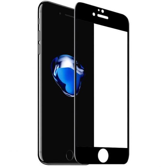 """Стекло защитное для Apple iPhone 7 Plus """"4D"""", тех пак черное"""