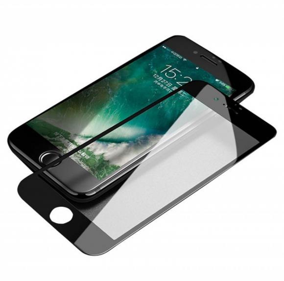 """Стекло защитное Apple iPhone 6 """"4D""""  100% стекло на всю поверхность,черное"""