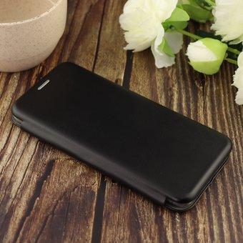 Чехол-книга для Samsung A51 (2020)/отдел под пластик.карту,силикон/ черный