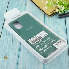 Чехол Silicone case для Samsung A51 2020 армейский зелёный (45)
