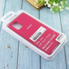Чехол Silicone case для Samsung A51 2020 бордовый (42)