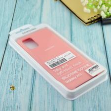 Чехол Silicone case для Samsung A51 2020 розовый (12)