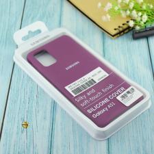 Чехол Silicone case для Samsung A51 2020 фиолетовый (36)