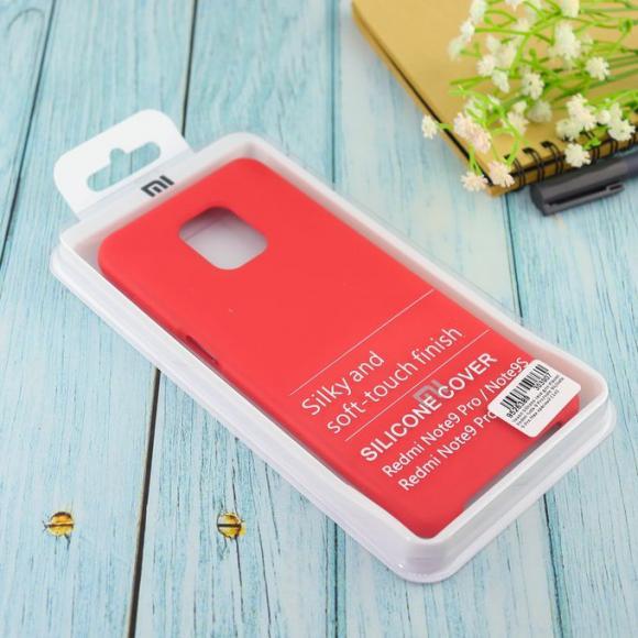 Чехол Silicone case для Xiaomi Redmi Note 9 Pro/note 9S/note 9 Pro Max красный (14)