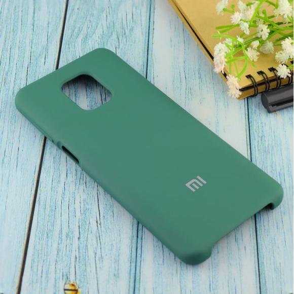 Чехол Silicone case для Xiaomi Redmi Note 9 Pro/note 9S/note 9 Pro Max армейский зелёный (45)