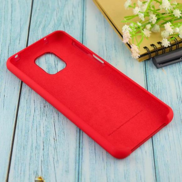 Чехол Silicone case для Xiaomi Redmi Note 9 Pro/note 9S/note 9 Pro Max бордовый (42)