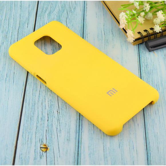 Чехол Silicone case для Xiaomi Redmi Note 9 Pro/note 9S/note 9 Pro Max жёлтый (4)