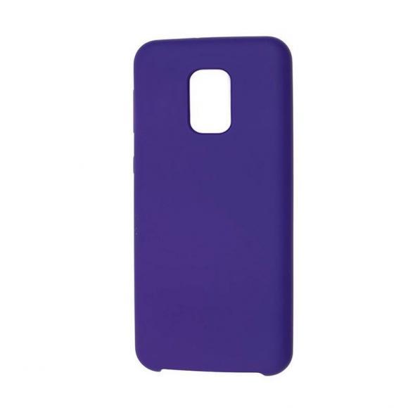Чехол Silicone case для Xiaomi Redmi Note 9 Pro/note 9S/note 9 Pro Max фиолетовый (36)