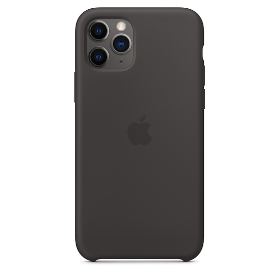 Чехол Silicone Case для iPhone 11 Pro (Чёрный) (18)