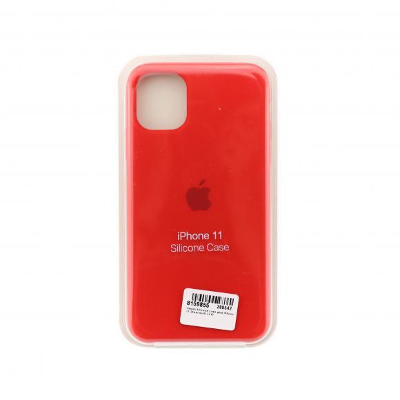 Чехол Silicone Case для iPhone 11 (Красный) (14)
