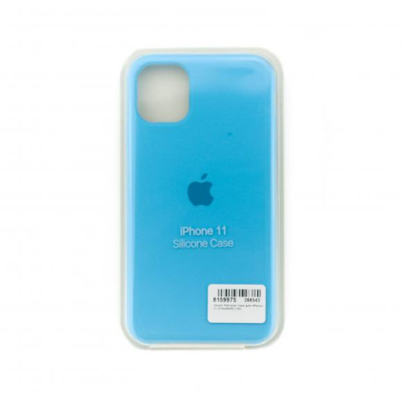Чехол Silicone Case для iPhone 11 (Голубой) (16)