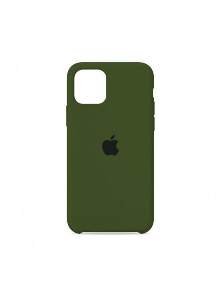 Чехол Silicone Case для iPhone 11 (Армейский Зелёный) (45)