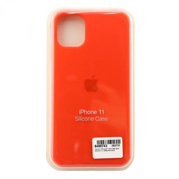 Чехол Silicone Case для iPhone 11 (Абрикос) (2)