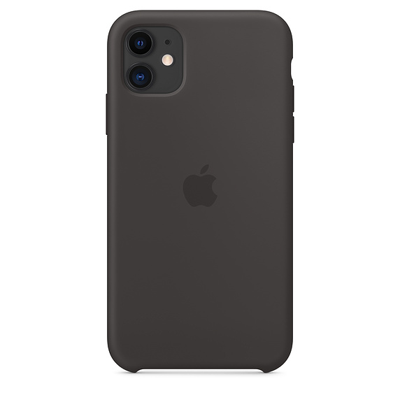 Чехол Silicone Case для iPhone 11 (Чёрный) (18)