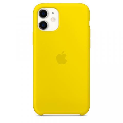Чехол Silicone Case для iPhone 11 (Жёлтый) (4)