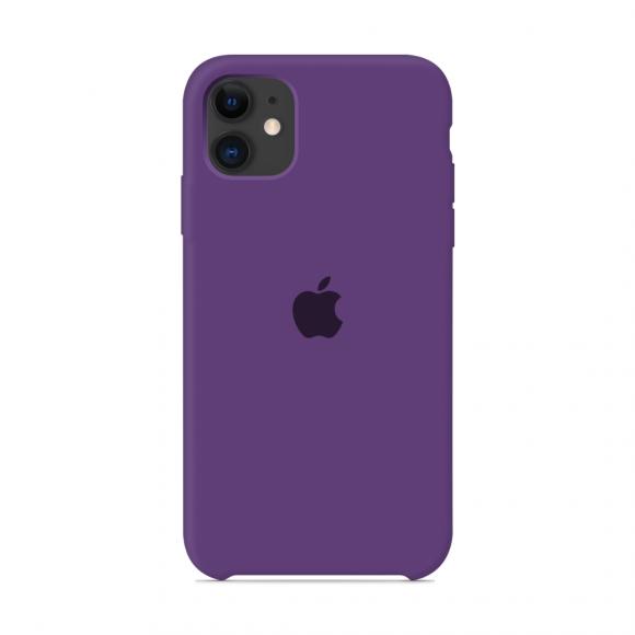 Чехол Silicone Case для iPhone 11 (Фиолетовый) (36)