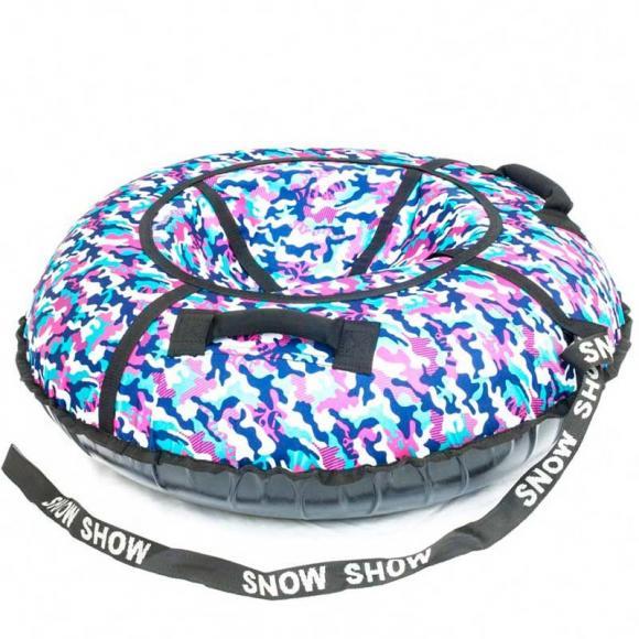 "Тюбинг Snow Show ""Хаки розовый"" D-120 см"