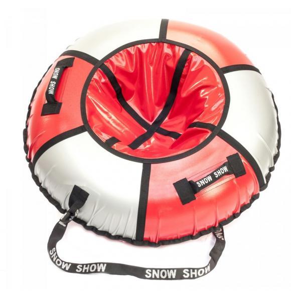 Тюбинг Snow Show  105 см красный/серебро