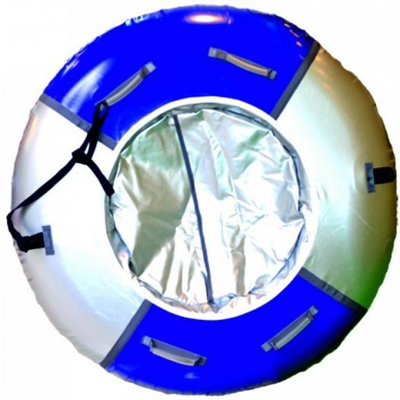 Многоместный Тюбинг  Мега (D-150см) синий/серебро