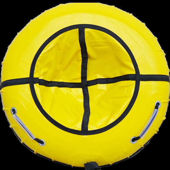 Тюбинг с пластиковым дном 85 см желтый