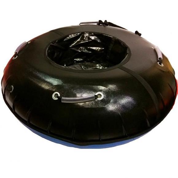 Тюбинг с пластиковым дном 100 см черный