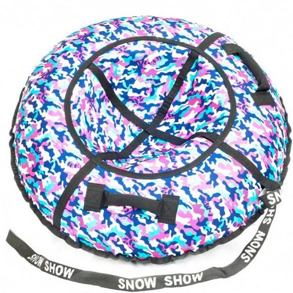 "Тюбинг Snow Show ""хаки розовый"" D-105 см"