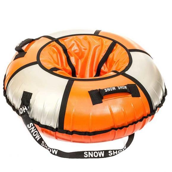 Тюбинг Snow Show   105 см оранжевый/серебро