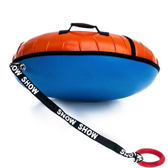 Тюбинг с пластиковым дном 110 см оранжевый
