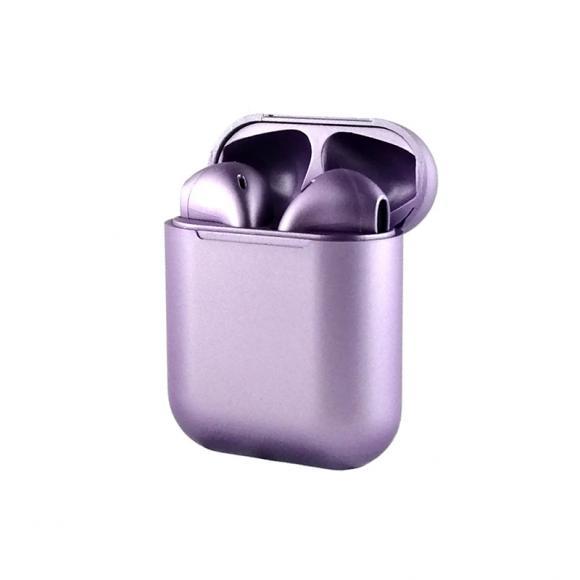 Наушники bluetooth inpods metall, фиолетовый