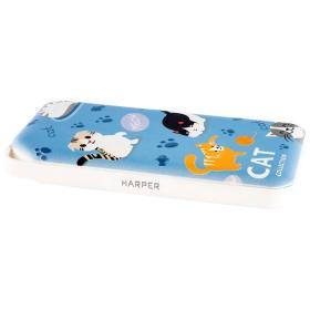 Аккумулятор внешний резервный HARPER PB-0019 (CAT v.2) 10000 мАч котики голубой
