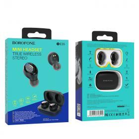 Наушники bluetooth Borofone BE35 Agreeable voice TWS, black
